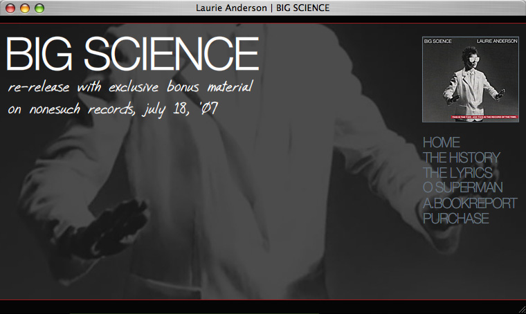 Big Science Re-release Site
